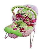 Just4baby Transat à bascule musical et à vibration avec 3 jouets à suspendre,...