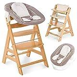 Hauck Alpha Plus Newborn Set - Trona de madera evolutiva bebés, incluye hamaca...