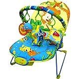 Just4baby transat musical apaisant pour bébé, avec vibrations et 4 jouets...