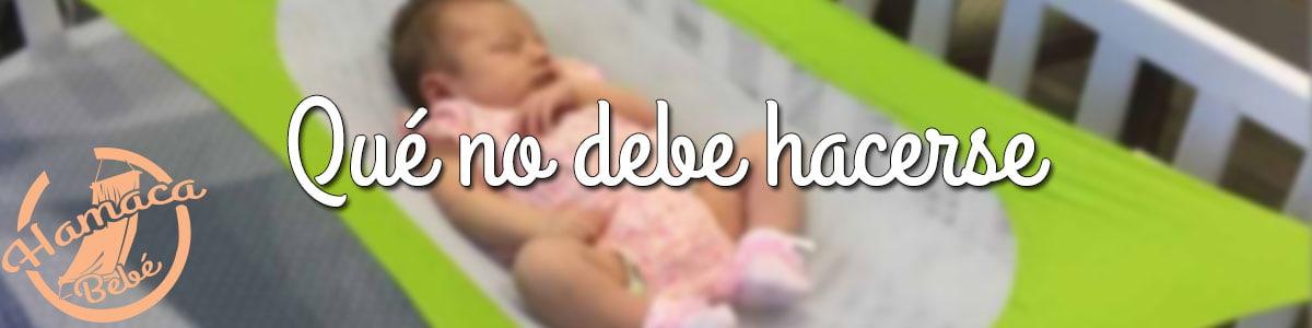 como usar la hamaca para bebes
